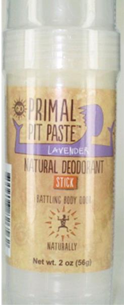 Aluminum Free Primal Pit Paste Lavender Deodorant